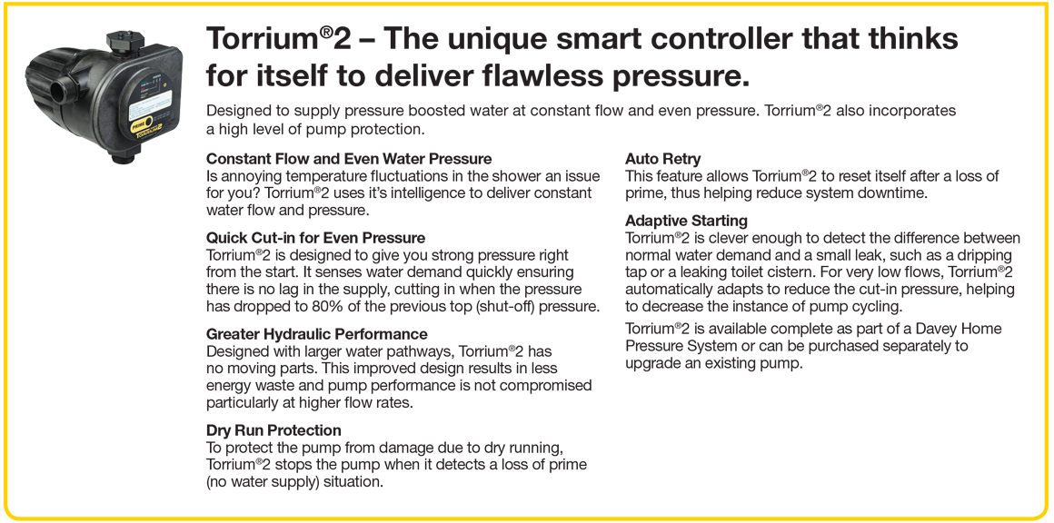 Household Pressure Boosting Systems TORRIUM