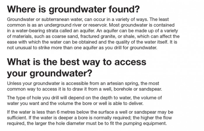 Submersible Borehole Find GroundWater